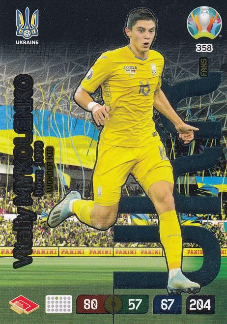 #358 Vitaliy Mykolenko (Ukraine) Adrenalyn XL Euro 2020 WONDER KID