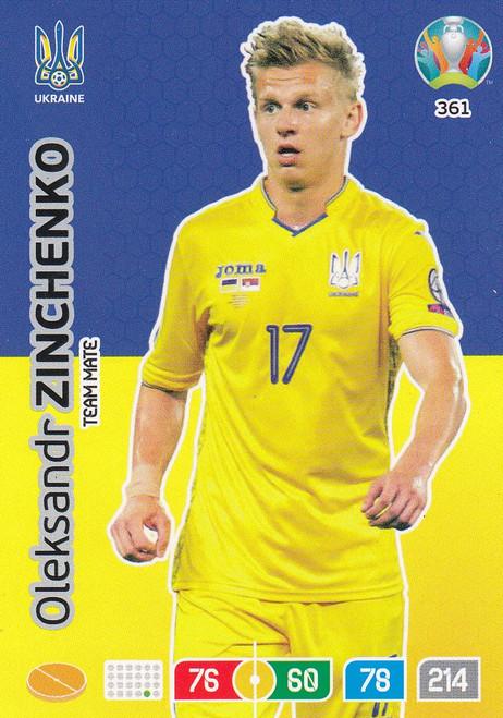#361 Oleksandr Zinchenko (Ukraine) Adrenalyn XL Euro 2020