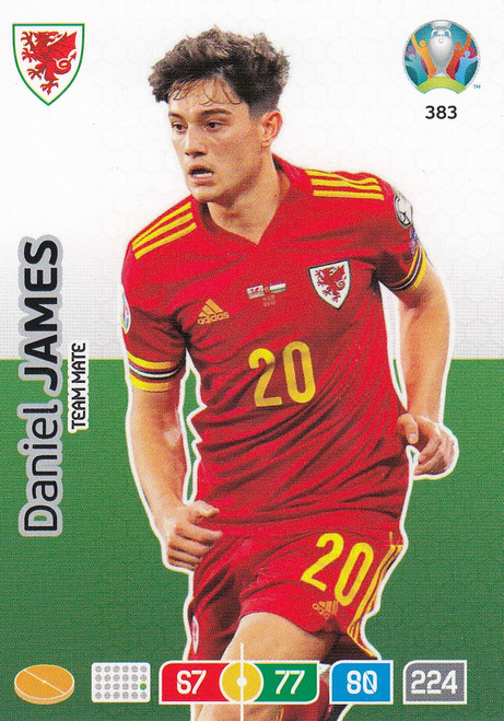#383 Daniel James (Wales) Adrenalyn XL Euro 2020