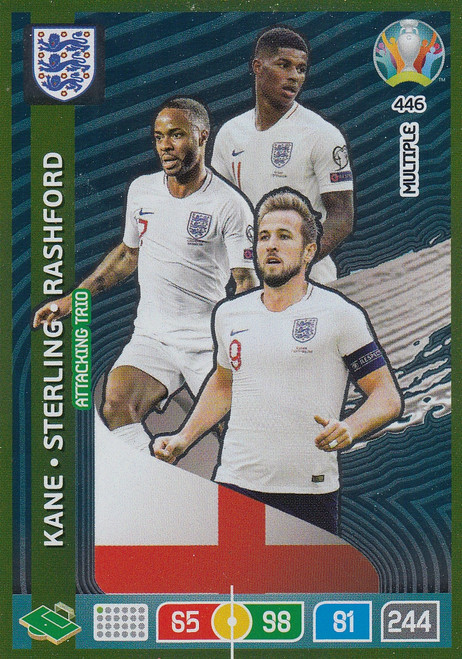 #446 England Adrenalyn XL Euro 2020 MULTIPLE - ATTACKING TRIO