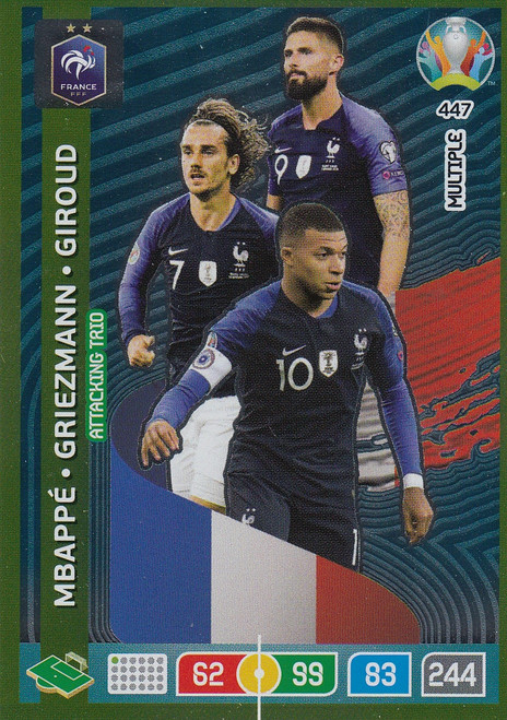 #447 France Adrenalyn XL Euro 2020 MULTIPLE - ATTACKING TRIO