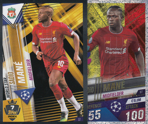 #W7 Sadio Mane (Liverpool FC) Match Attax 101 2019/20