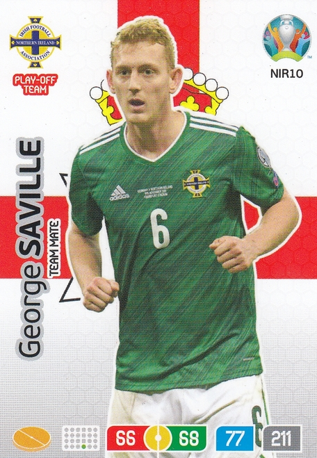 #NIR10 George Saville (Northern Ireland) Adrenalyn XL Euro 2020