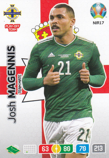 #NIR17 Josh Magennis (Northern Ireland) Adrenalyn XL Euro 2020