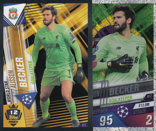 #W12 Alisson Becker (Liverpool FC) Match Attax 101 2019/20