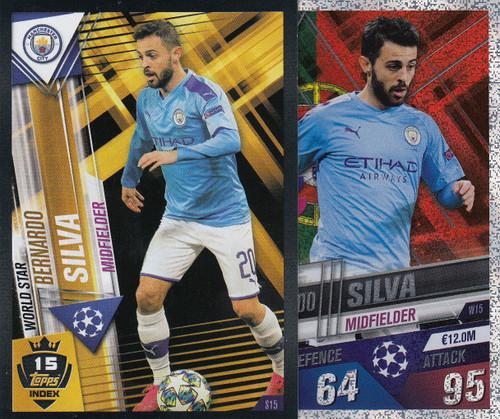 #W15 Bernardo Silva (Manchester City) Match Attax 101 2019/20