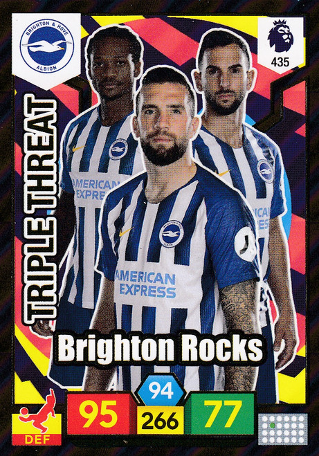 #435 Brighton Rocks (Brighton & Hove Albion) Adrenalyn XL Premier League 2019/20 TRIPLE THREAT