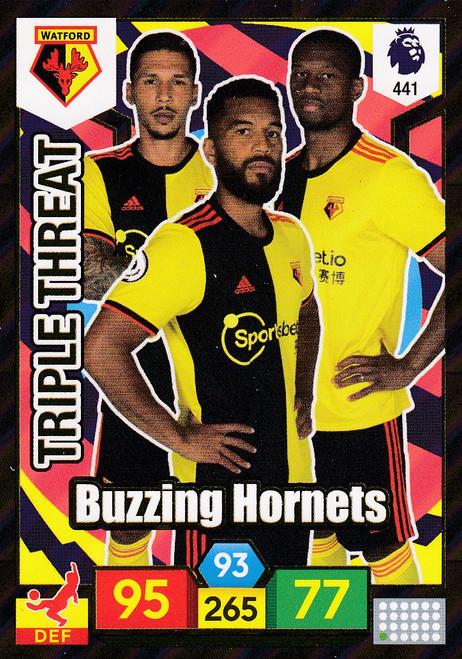 #441 Buzzing Hornets (Watford) Adrenalyn XL Premier League 2019/20 TRIPLE THREAT