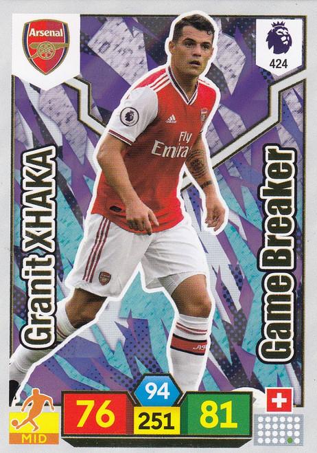 #424 Granit Xhaka (Arsenal) Adrenalyn XL Premier League 2019/20 GAME BREAKER