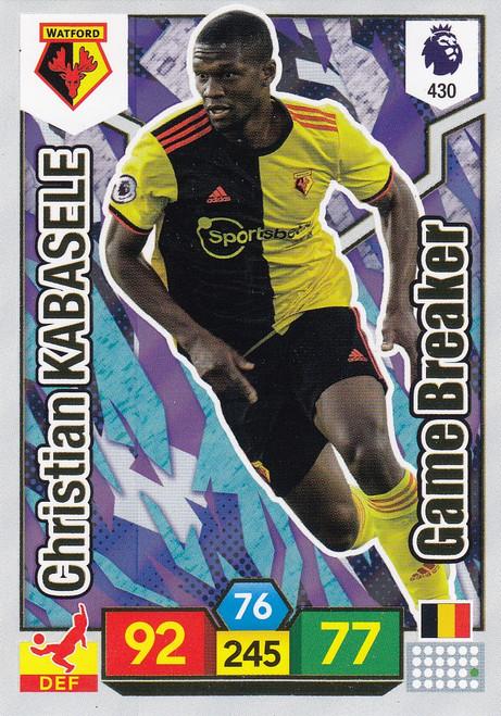 #430 Christian Kabasele (Watford) Adrenalyn XL Premier League 2019/20 GAME BREAKER