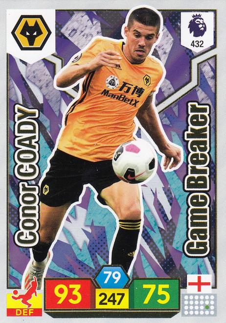#432 Conor Coady (Wolverhampton Wanderers) Adrenalyn XL Premier League 2019/20 GAME BREAKER