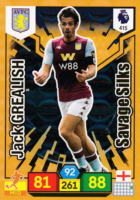 #415 Jack Grealish (Aston Villa) Adrenalyn XL Premier League 2019/20 SAVAGE SILK