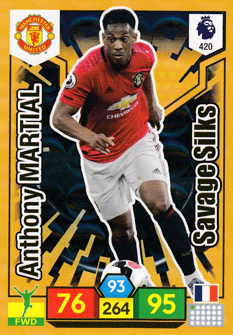 #420 Anthony Martial (Manchester United) Adrenalyn XL Premier League 2019/20 SAVAGE SILK