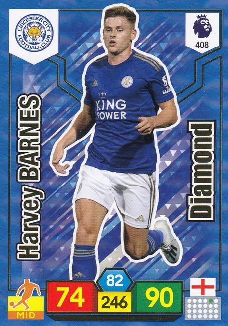 #408 Harvey Barnes (Leicester City) Adrenalyn XL Premier League 2019/20 DIAMOND