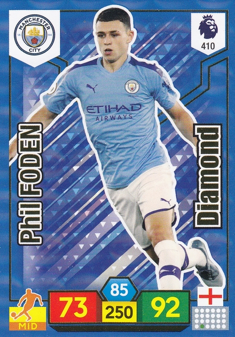 #410 Phil Foden (Manchester City) Adrenalyn XL Premier League 2019/20 DIAMOND
