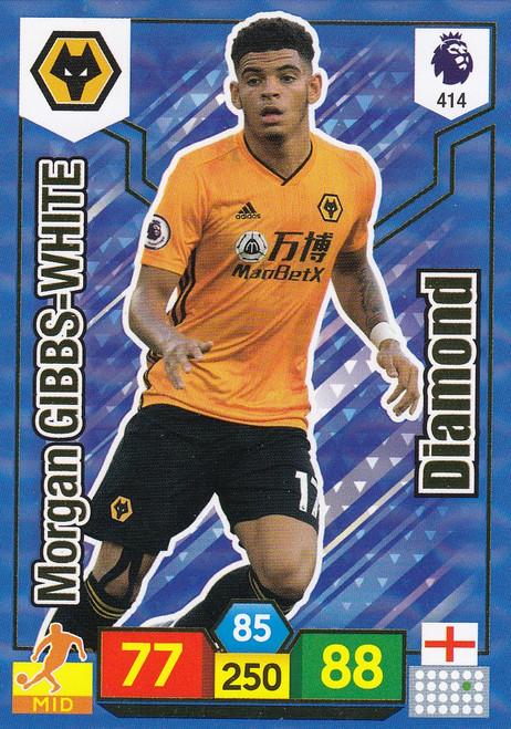 #414 Morgan Gibbs-White (Wolverhampton Wanderers) Adrenalyn XL Premier League 2019/20 DIAMOND