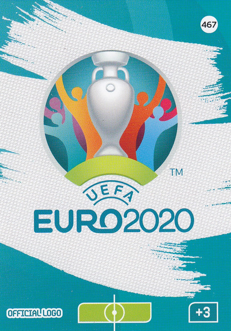 #467 Official UEFA Euro 2020 Logo Adrenalyn XL Euro 2020