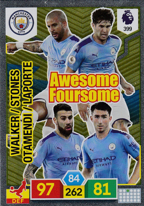 #399 Manchester City Adrenalyn XL Premier League 2019/20 AWESOME FOURSOME