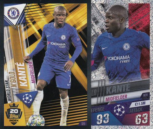 #W20 N'Golo Kante (Chelsea FC) Match Attax 101 2019/20