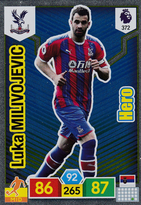 #372 Luka Milivojevic (Crystal Palace) Adrenalyn XL Premier League 2019/20 HERO