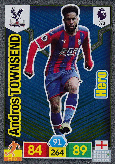 #373 Andros Townsend (Crystal Palace) Adrenalyn XL Premier League 2019/20 HERO