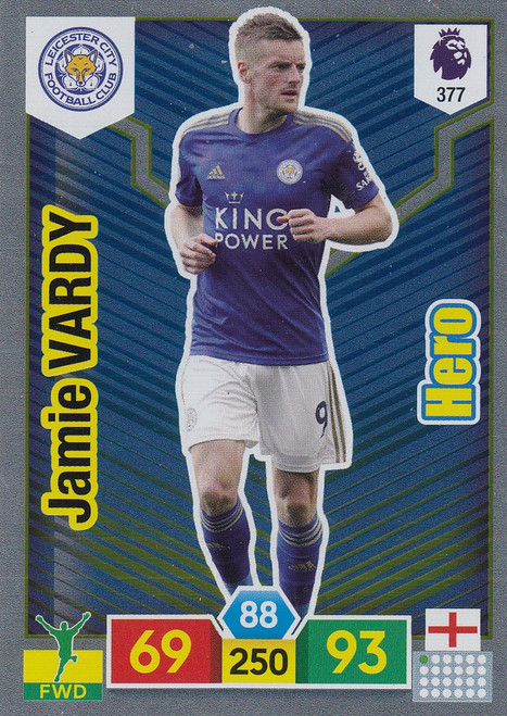 #377 Jamie Vardy (Leicester City) Adrenalyn XL Premier League 2019/20 HERO
