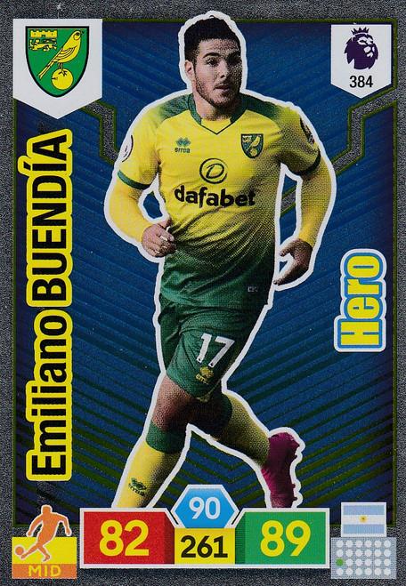 #384 Emiliano Buendia (Norwich City) Adrenalyn XL Premier League 2019/20 HERO