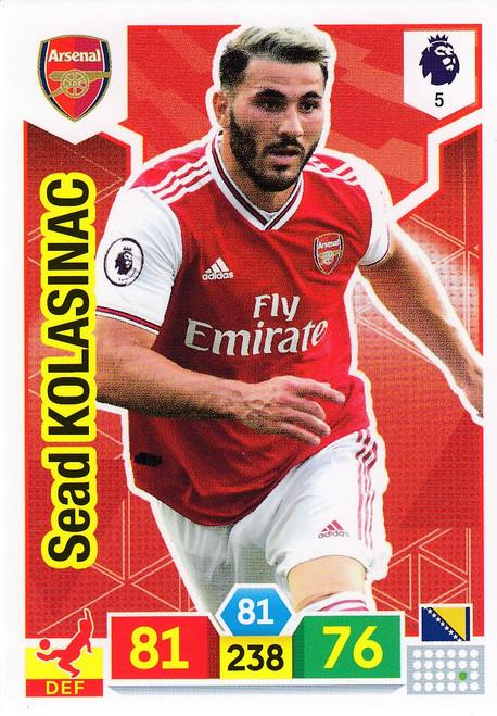 #5 Sead Kolasinac (Arsenal) Adrenalyn XL Premier League 2019/20