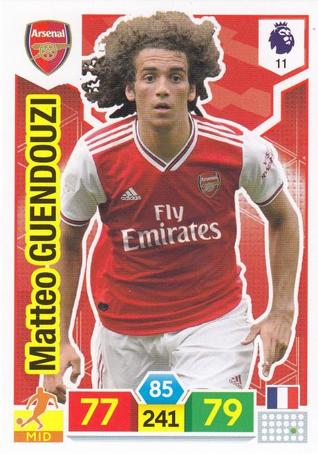 #11 Matteo Guendouzi (Arsenal) Adrenalyn XL Premier League 2019/20