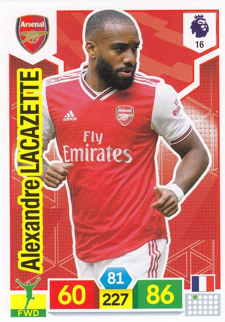 #16 Alexandre Lacazette (Arsenal) Adrenalyn XL Premier League 2019/20