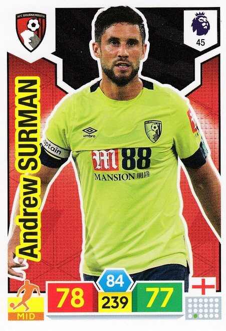 #45 Andrew Surman (AFC Bournemouth) Adrenalyn XL Premier League 2019/20