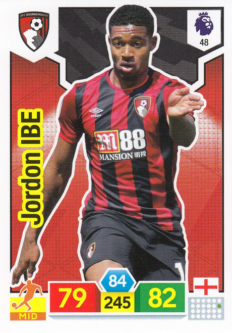 #48 Jordan Ibe (AFC Bournemouth) Adrenalyn XL Premier League 2019/20