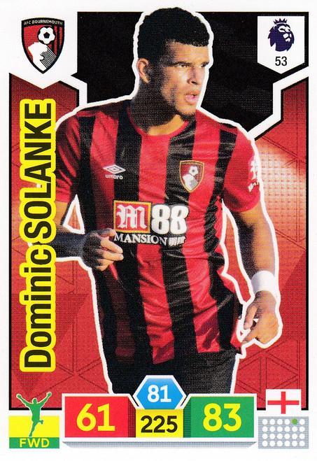 #53 Dominic Solanke (AFC Bournemouth) Adrenalyn XL Premier League 2019/20