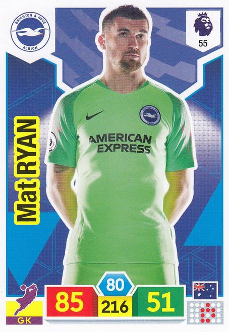 #55 Mat Ryan (Brighton & Hove Albion) Adrenalyn XL Premier League 2019/20