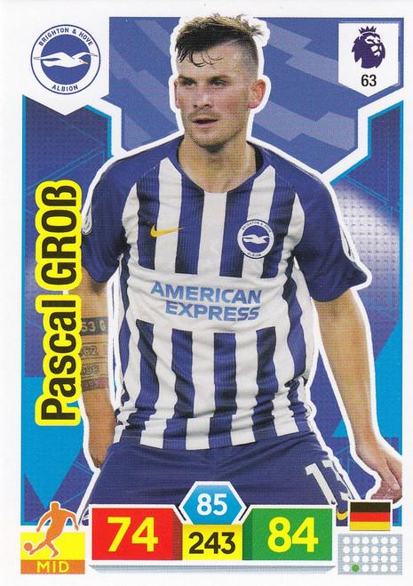 #63 Pascal Gross (Brighton & Hove Albion) Adrenalyn XL Premier League 2019/20