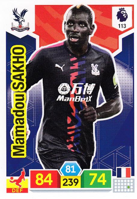 #113 Mamadou Sakho (Crystal Palace)  Adrenalyn XL Premier League 2019/20