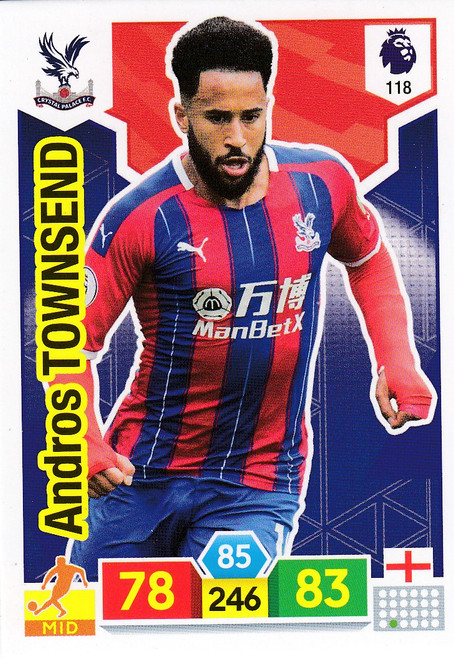#118 Andros Townsend (Crystal Palace)  Adrenalyn XL Premier League 2019/20