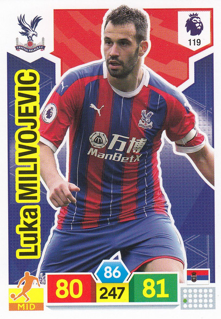 #119 Luka Milivojevic (Crystal Palace)  Adrenalyn XL Premier League 2019/20