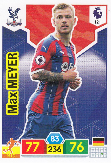 #121 Max Meyer (Crystal Palace)  Adrenalyn XL Premier League 2019/20