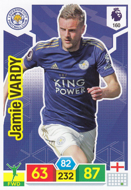 #160 Jamie Vardy (Leicester City) Adrenalyn XL Premier League 2019/20