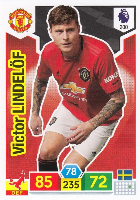 #200 Victor Lindelof (Manchester United) Adrenalyn XL Premier League 2019/20