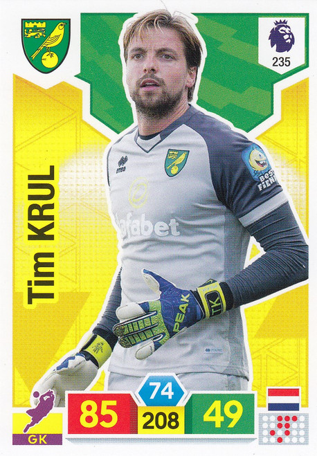 #235 Tim Krul (Norwich City) Adrenalyn XL Premier League 2019/20