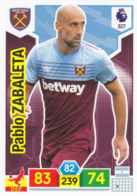 #327 Pablo Zabaleta (West Ham United) Adrenalyn XL Premier League 2019/20