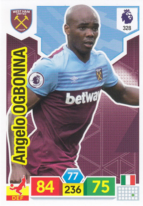 #328 Angelo Ogbonna (West Ham United) Adrenalyn XL Premier League 2019/20