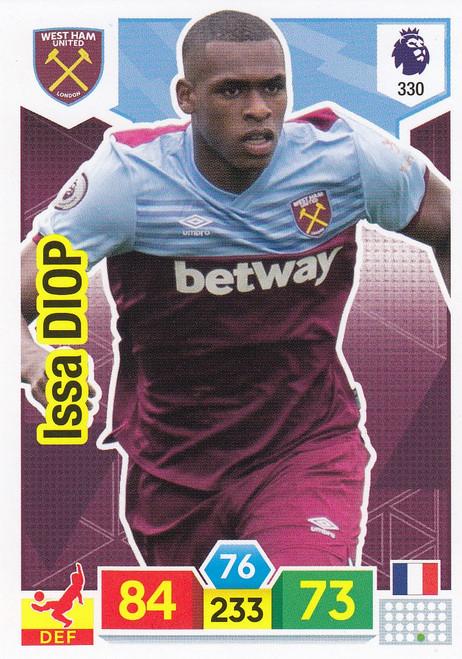 #330 Issa Diop (West Ham United) Adrenalyn XL Premier League 2019/20