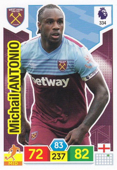 #334 Michail Antonio (West Ham United) Adrenalyn XL Premier League 2019/20
