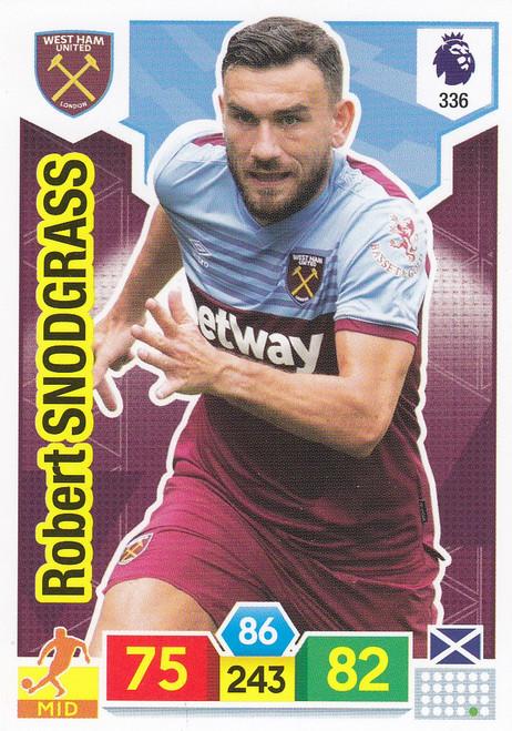 #336 Robert Snodgrass (West Ham United) Adrenalyn XL Premier League 2019/20
