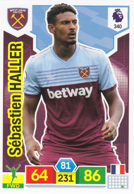 #340 Sebastien Haller (West Ham United) Adrenalyn XL Premier League 2019/20