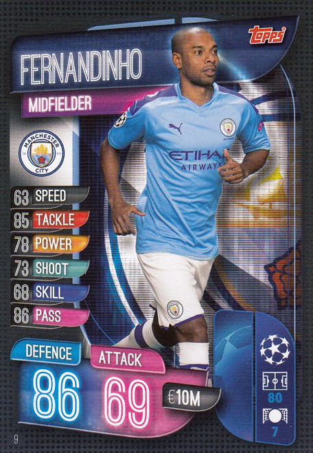 #9 Fernandinho (Manchester City) Match Attax Champions League 2019/20