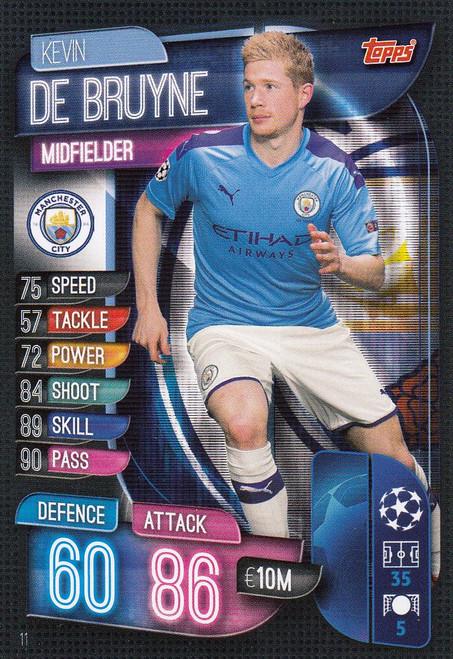#11 Kevin De Bruyne (Manchester City) Match Attax Champions League 2019/20